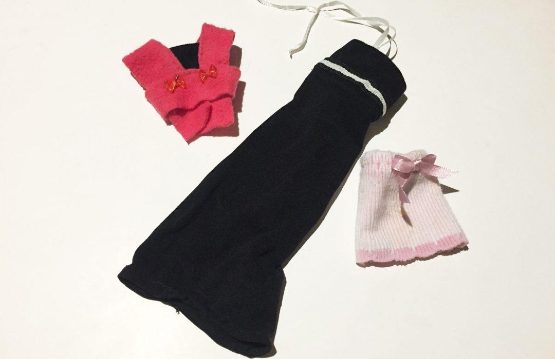 Vêtements pour barbie à partir de tissus de récup