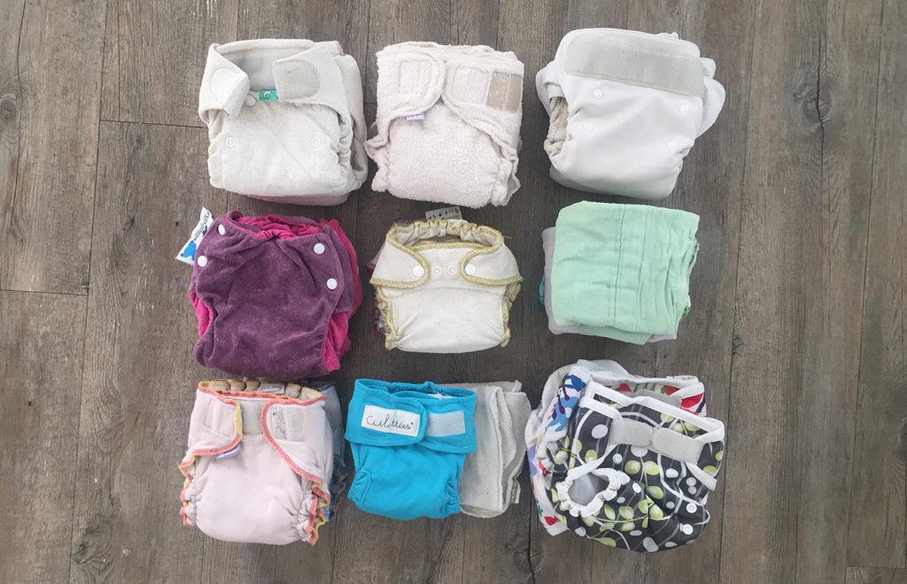 différents modèles de couches lavables premier âge